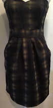 H&M Sexy Casual Strapless Two Pocket Pleated Dress Size 8 - $29.99