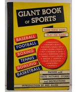 Giant Book of Sports by Samuel Nisenson 1948 - $8.99