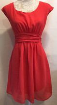Pins And Needles Urban Outfitters Casual Sleeveless Coral Dress Sz Medium M - £16.91 GBP