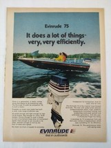 1975 Evinrude Outboard 75 Fishing Original Print Ad Advertisement  - $16.81