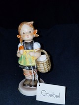 "Hummel Goebel ""Sister"" 98/0 Figurine Girl with Basket and Flower Signed - $49.99"