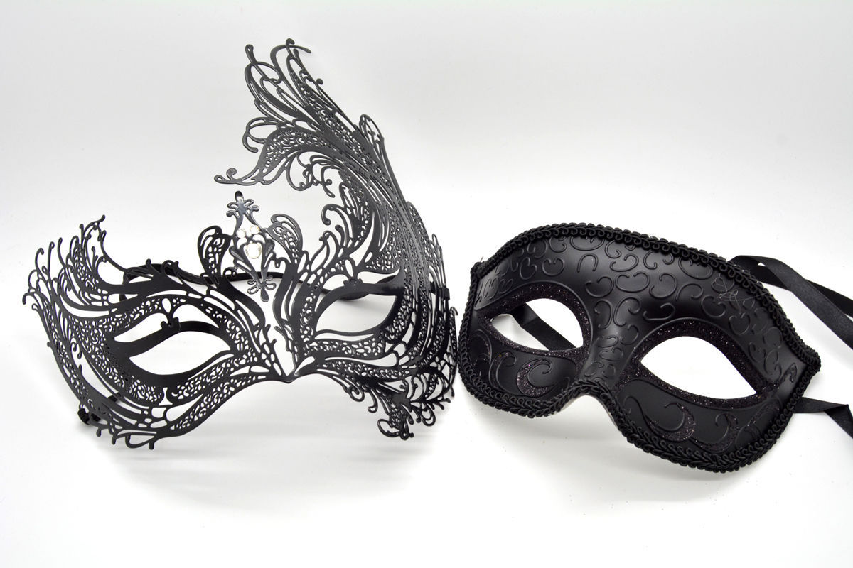 6fb60552370f S l1600. S l1600. Previous. Couple Men Women Black Laser Cut Filigree Glitter  Venetian Masquerade Mask