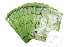 "3W Clinic Fresh ""Cucumber"" Mask Sheet Essence Face Mask Sheet 3,6,10,20,... - $6.92+"