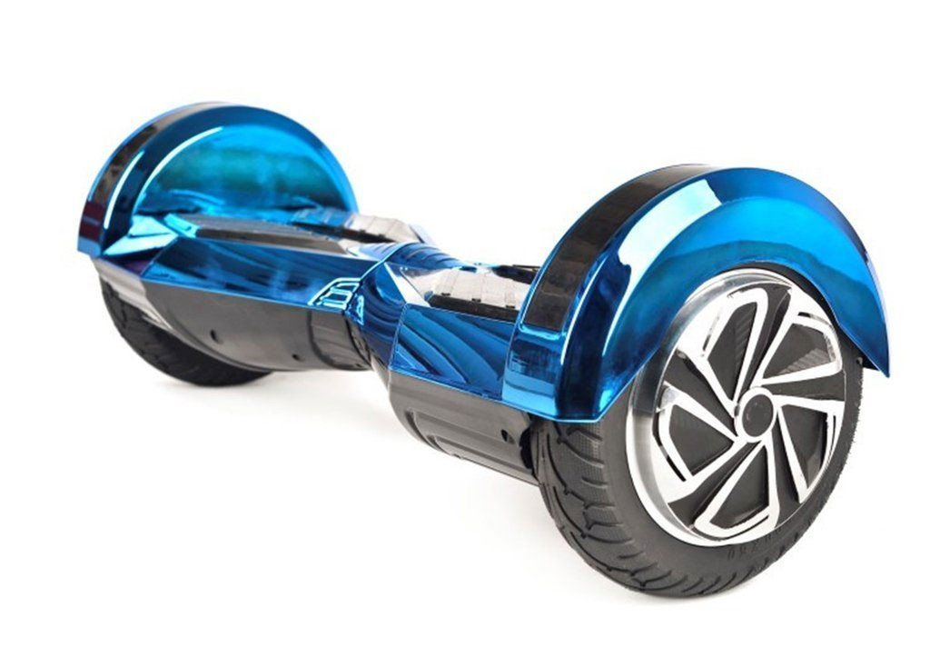 8 Quot Lambo Blue Chrome Self Balancing Electric Scooter
