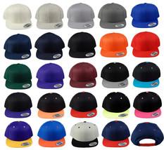 Classics Snapback Flat Bill Cap 24 Colors One Size - $6.99