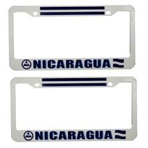 """Nicaragua Flag"" License Plate Plastic 2 piece - $11.87"