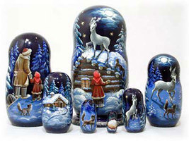 "Silver Hoof Nesting Doll - 8"" w/ 7 Pieces - $150.00"