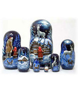 "Silver Hoof Nesting Doll - 8"" w/ 7 Pieces - $150.00"