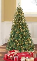 Artificial Christmas Green Tree Xmas Pine Holiday Decor Stand 300 Lights... - $54.99