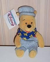 "Disney Beans 8"" Winnie Pooh Choo Choo Bear Train Engineer NWT - $5.69"