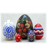 """Russian Easter Eggs - 4"""" w/ 5 Pieces - $33.00"""