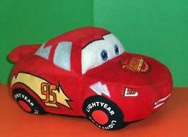 "Disney Cars 10"" Race Car #95 Lightning McQueen Unique Plush Bank - $7.59"