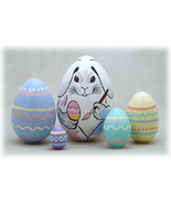 """Easter Bunny Nesting Doll - 4"""" w/ 5 Pieces - $33.00"""