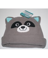 NWT CUTE Raccoon Face with Ears Beanie Fleece Winter Warm Kid's or Child... - £3.99 GBP