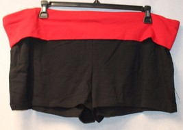 New Womens Plus Size 3X Black W Red Band Yoga Booty Exercise Summer Sleep Shorts - $10.13