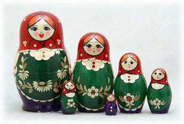 """Nolinsk Straw Inlay Nesting Doll - 5"""" w/ 6 Pieces - $39.00"""