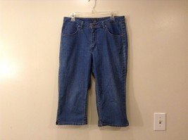 Riders by Lee Blue Medium Wash Capri Jeans Cotton/Spandex Blend See Measurements