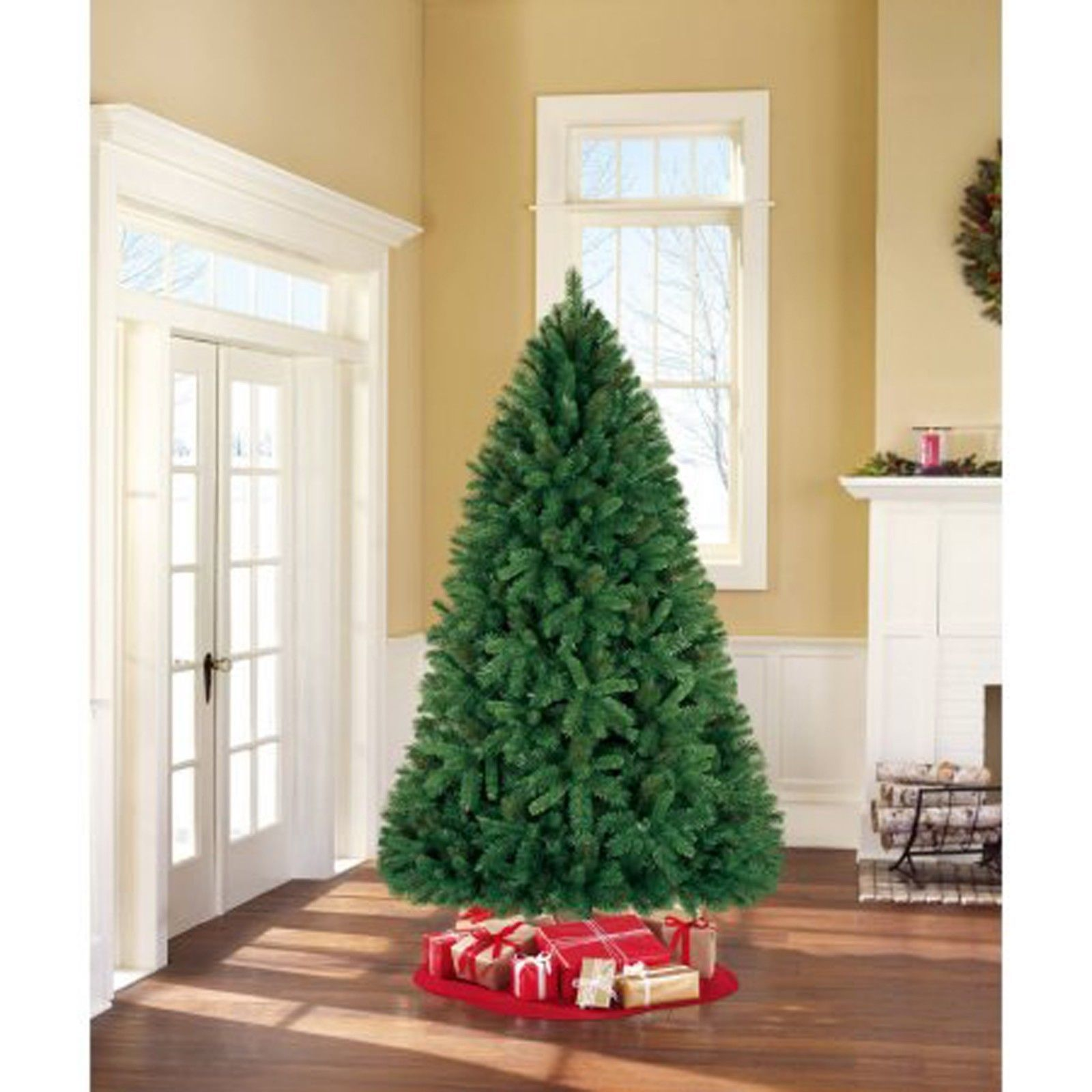 Http Www Bonanza Com Listings Christmas Tree 7 5 Tall Green With Stand Holiday Home Decor Xmas Artificial New 408827756