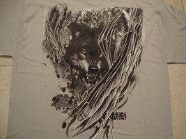 New Nwt Animal Planet Tv Show Channel Lone Wolf Gray T Shirt Men's Size Xl - $17.56