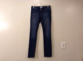Girls Aeropostale Dark Blue Skinny Jeans Bayla Size 0 Regular 99% Cotton
