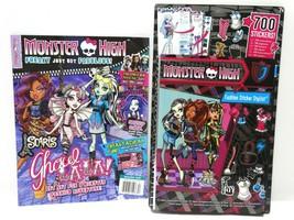 2011 Monster High Fashion Sticker Stylist & 2013 Monster High Magazine - $9.75