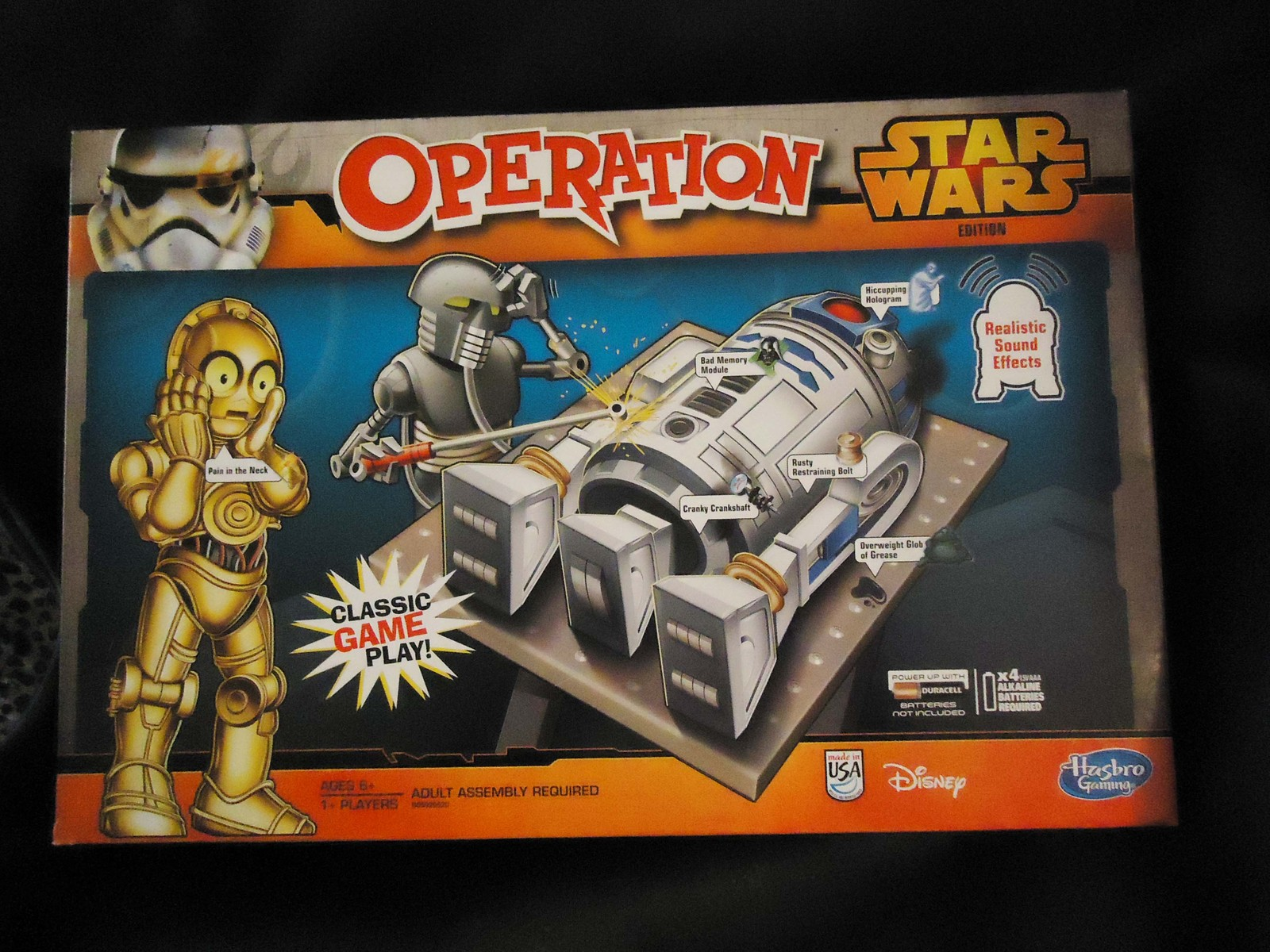 Star Wars game Operation board game Classic Sound Effects ...