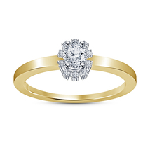 Women's Solitaire Engagement Ring Oval Shape CZ Yellow Gold Plated 925 S... - $67.99