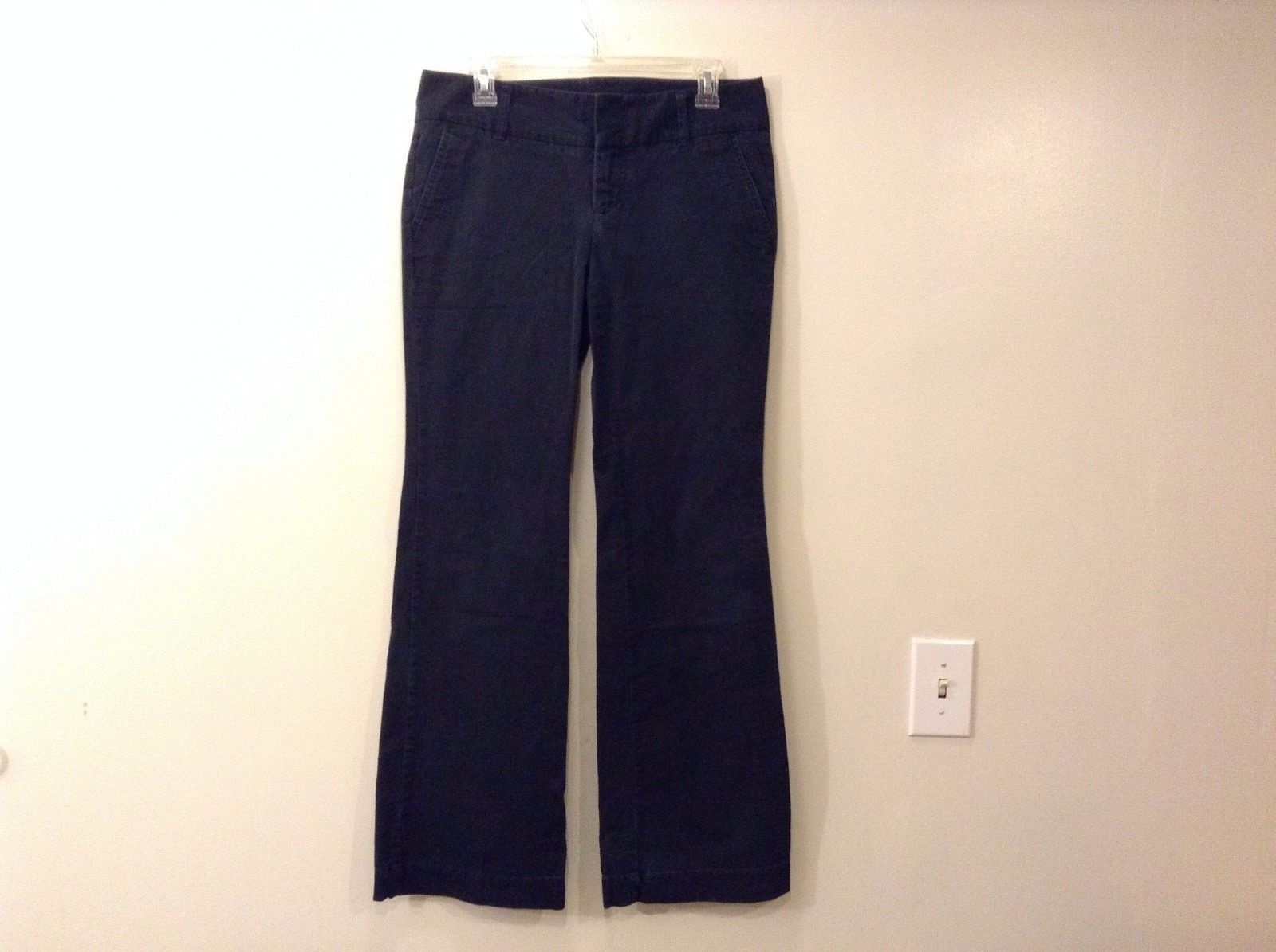 Express Black Jean Pants Size 8 Slightly Flare Bootcut Leg 97% Cotton 3% Spandex