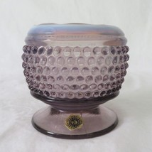 Westmoreland, Cupped Rose Bowl, Footed, American Hobnail, Lilac Opalesce... - $35.00