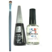 Super Black Eyelashes Eyelash Extension Glue + Remover set w Brush - $6.85