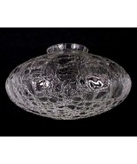 Clear Crackle Glass Light Shade Globe 4 X 6 1/4... - $39.95
