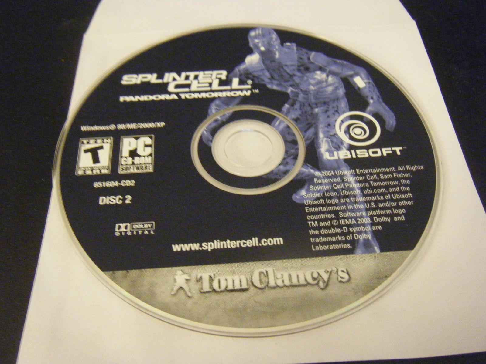 Tom Clancy's Splinter Cell: Pandora Tomorrow (PC, 2004) - Disc 2 Only