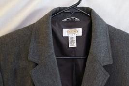Talbots Women Women's Wool Blazer Coat 12W Made USA jacket gray career I... - $9.99