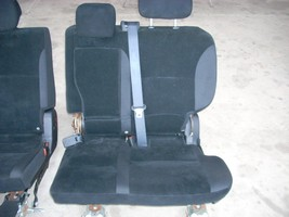 2010 MITSUBISHI LEFT REAR SEAT WITH BLACK CLOTH TRIM