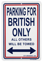 United Kingdom  Parking Sign - $11.94