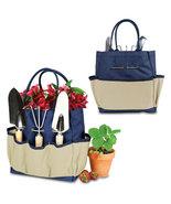 Large Garden Tote w/ 3 Piece Garden Tool Kit - Navy Blue - $34.95