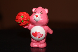 Vintage Kenner Care Bears Love-A-Lot Cheer Bear with Roses Mini Figure 1983 - $27.00