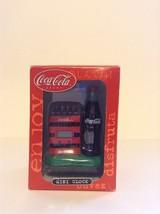 Tested Working Coca Cola Clock #CCM40 Coke Bottles in Case Display Figurine - $16.82