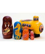 "Yellow Sub w/ Sea Musicians Nesting Doll  - 6"" w/ 5 Pieces - $70.00"