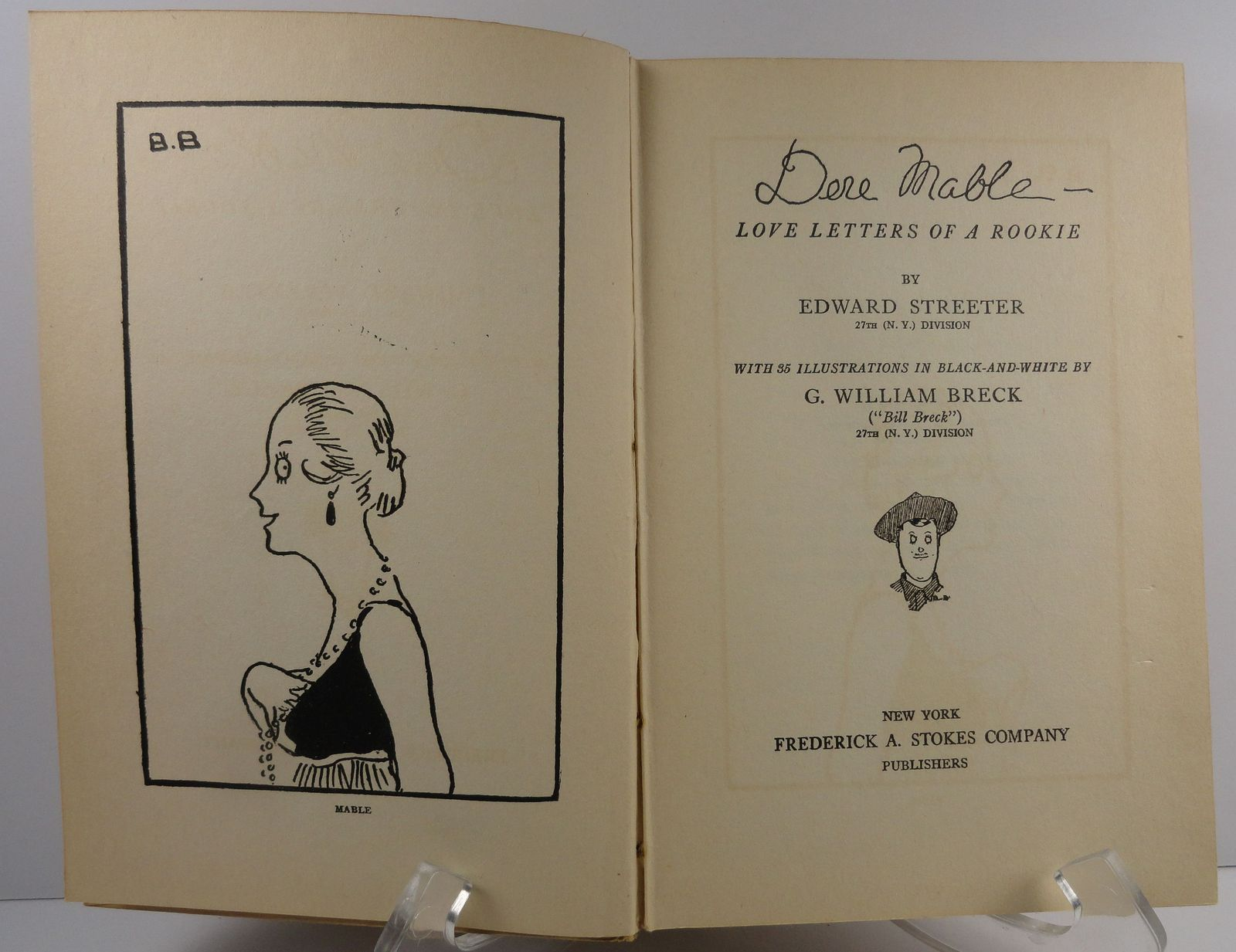 Dere Mable  Love Letters of a Rookie by Edward Streeter 1918