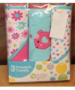 """NEW BABY GEAR BABY SHOWER PRESENT 3 PACK OF HOODED TOWELS TOWEL SET 28""""X... - $7.84"""