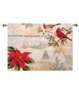 """NEW CHRISTMAS LET HEAVEN & NATURE SING TAPESTRY WALL ART DECOR 36""""W x 26""""H - $19.34"""
