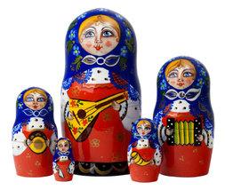 "Balalaika Nesting Doll - 6"" w/ 5 Pieces - $40.00"