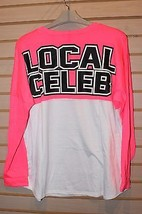 New Womens Plus Size 3X Hot Pink & White Local Celeb Celebrity Famous Shirt Top - $17.41