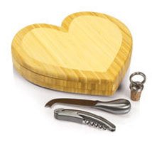 Heart Shaped Cheese Board w/ Tools - $53.50 CAD