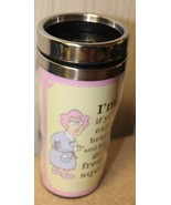 NEW AUNTY ACID HUMOROUS FUNNY TRAVEL COFFEE MUG IF YOURE EXPECTING BRIGH... - $9.74
