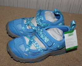 NEW LANDS END GIRLS SIZE 9  ROYAL BLUE MARY JANE TREKKER SHOES CUTE & COMFY - $13.54