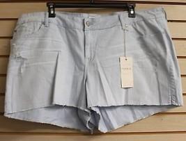 New Torrid Womens Plus Size 28W 28 4X Kentucky Blue Skinny Short Shorts W Distrs - $19.34