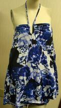 New Womens Shape Fx Plus Size 24W Blue Halter Bathing Swimming Swim Suit Dress - $24.18