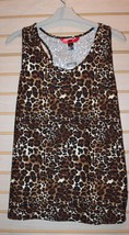 New Womens Plus Size 3X Hotkiss Soft Brushed Leopard Animal Print Tank Top Shirt - $15.47